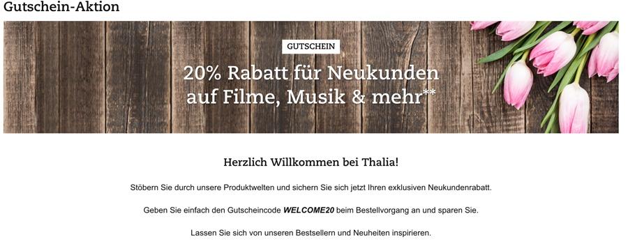 Thalia Gutschein Neukunden