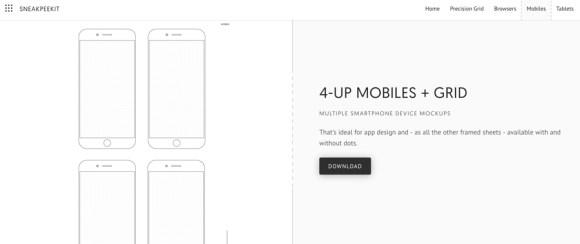 kostenlose Vorlagen App Tablet Webbrowser