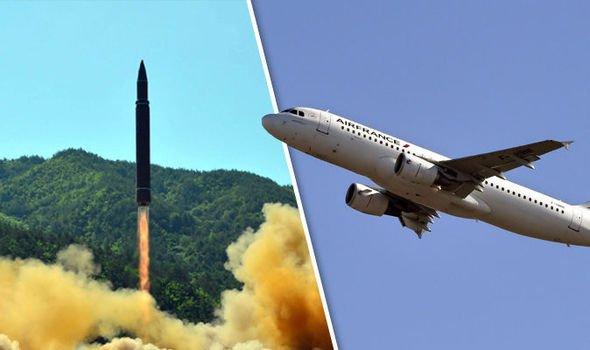 Missile Nord Corea rischia di colpire aereo Francia