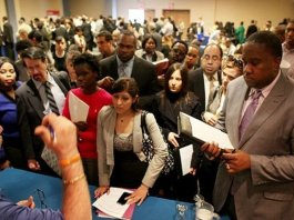 La lenta crescita dei posti di lavoro negli Usa