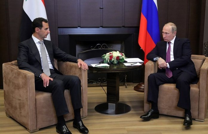 Putin incontra Assad in Russia