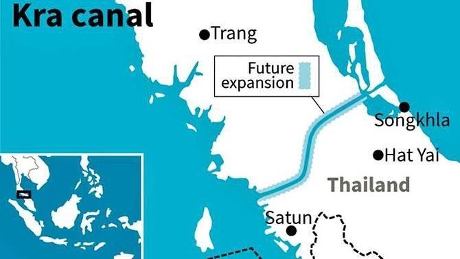 Il canale di Kra che taglia la Thailandia collegando Oceano Indiano e Mar Cinese Meridionale