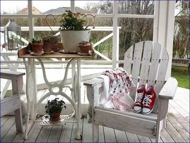 Idee in vetrina shabby chic per arredare una veranda o un terrazzo  Notizie in Vetrina Magazine