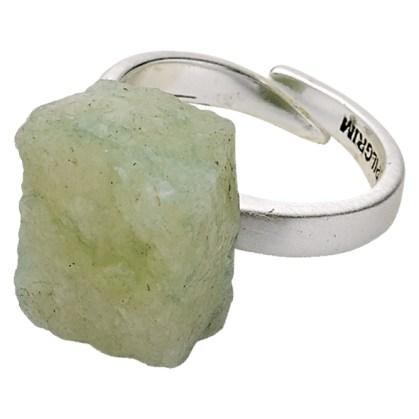 Green crystal ring