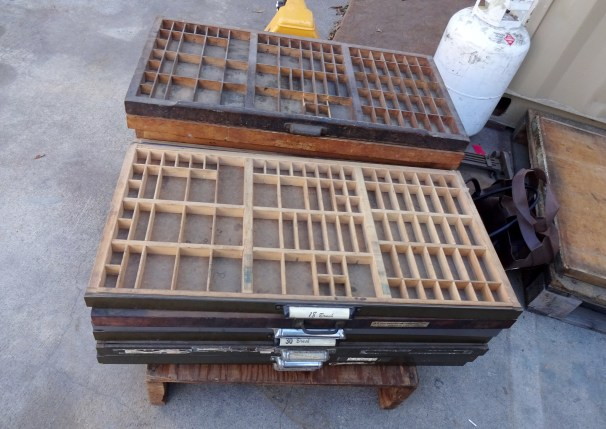 Printer's tray for sale.