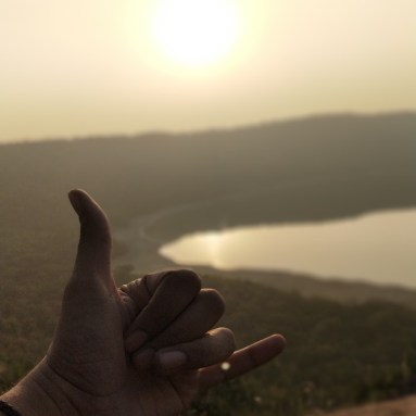 A stunning sunset in Lonar