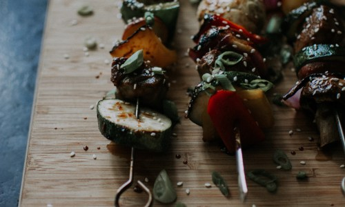 Asian-inspired grill | Vegetable and Beef Kebab recipe