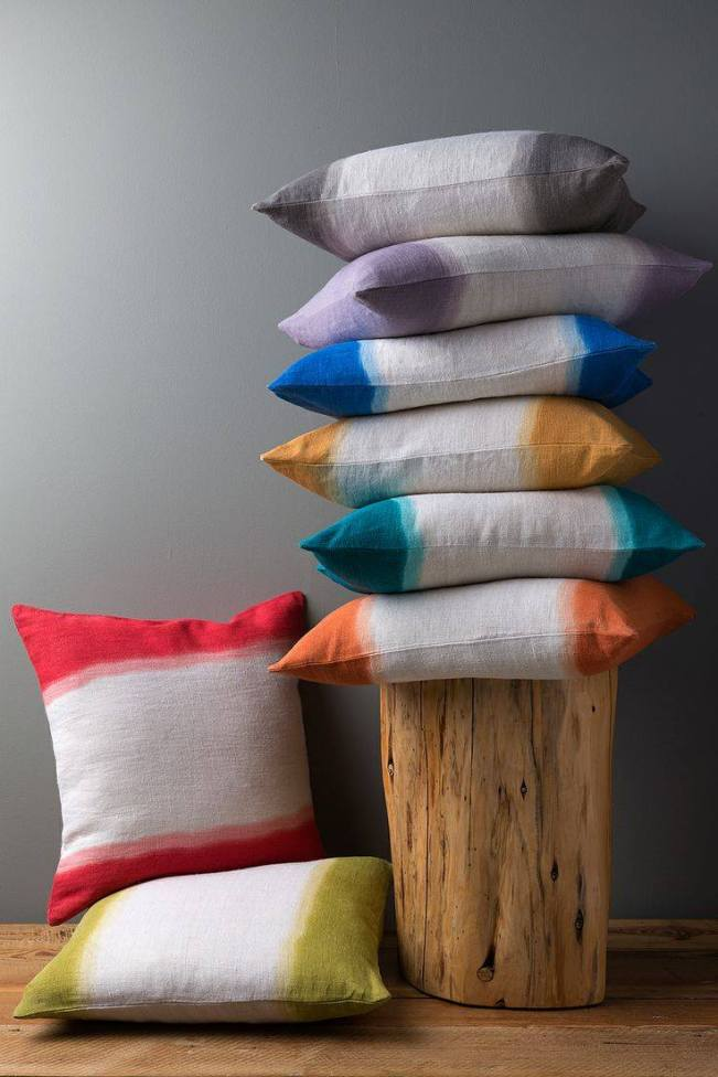 A little French, a little Indian; Very elegant and extremely beautiful - Ombre Cushions from Diti Vora via