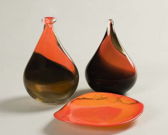 The magic of blown glass with colours in varied hues created by Srila Mookherjee