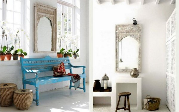 Similar mirror - different setting and styling via 1, 2