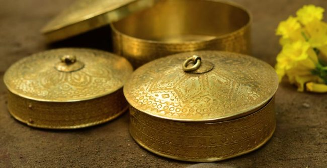 brass dinner handmade containers serving metal