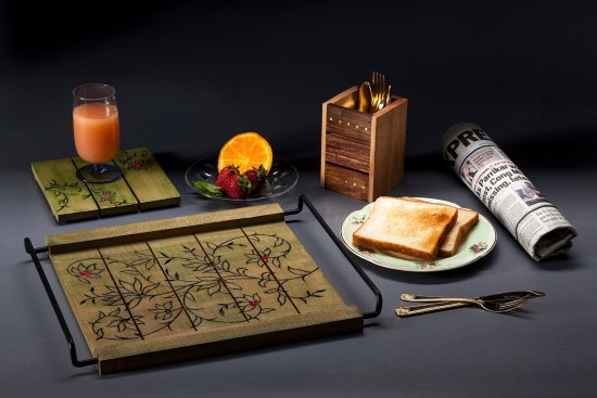 wood, tray, breakfast, handmade