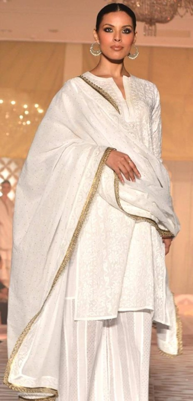 White with a hint of gold .... pure elegance via