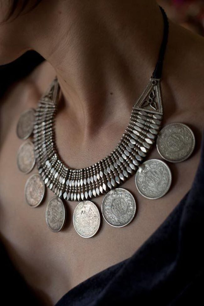 Silver-coin-necklace-himachal