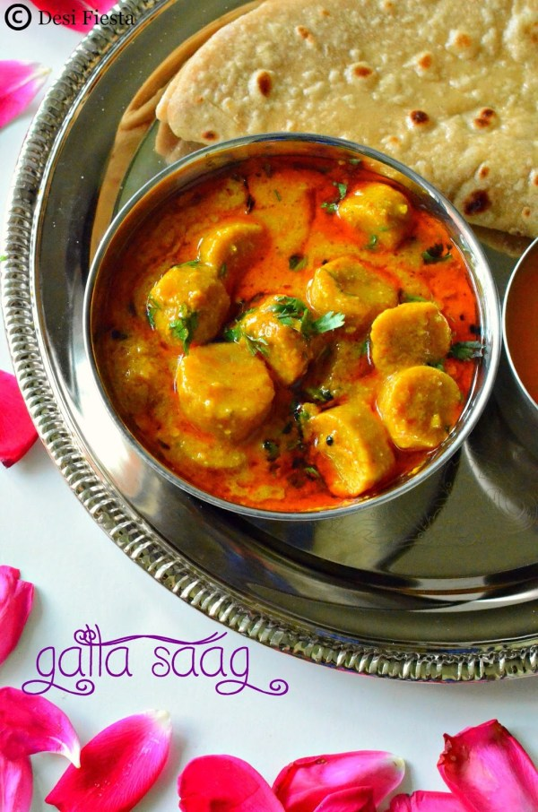 Gatta ke sabji...Just the perfect accompaniment to a phulka .... via