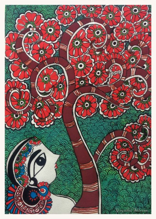 tree-of-life-bharti-dayal-madhubani