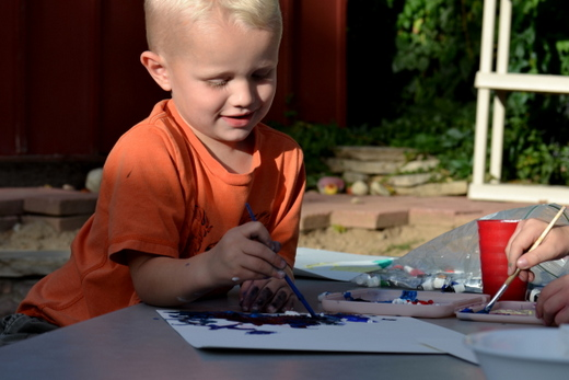 Tips for getting creative with kids.