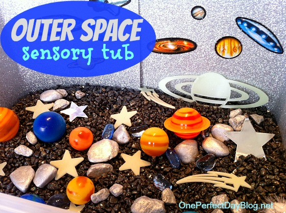 Outer Space Sensory Tub from One Perfect Day