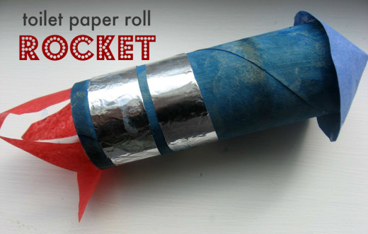 Toilet Paper Roll Rocket from No Time For Flash Cards