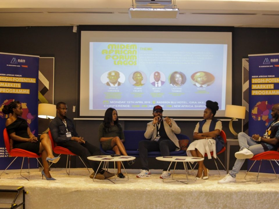 Panel 1; L-R Laverine Thomas, Wale Davies, Yemisi Falaye, Michael Ugwu, Waje Iruobe, and Nosa Dag Aghayere Midem