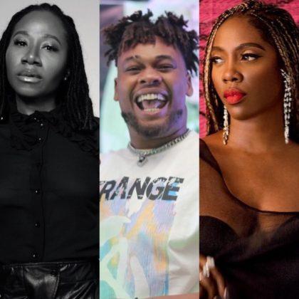 Watch Buju Recording Songs With Asa and Tiwa Savage in One Night