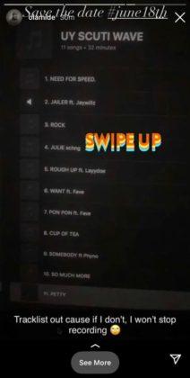 Olamide Drops Tracklist for Upcoming Album, 'UY Scuti Wave' | NotjustOK