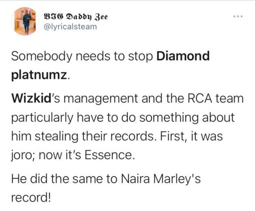 Wizkid FC Want to Know Why Diamond Platnumz' New Song Sounds Familiar