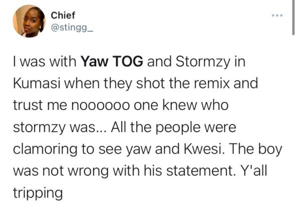 Was Yaw Tog Wrong for Saying He Made Stormzy More Popular in Ghana?