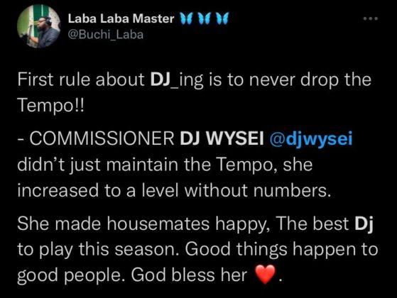 BBNaija Update DJ Wysei Gets Accolades for Party Performance NotjustOK