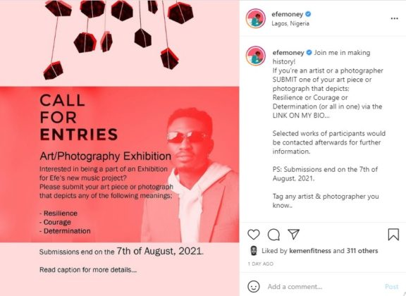 Efe Plans Art Exhibition for New EP Dropping Soon NotjustOK