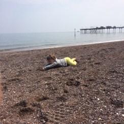 Beach tantrum