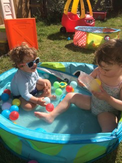 Fun in the paddling pool