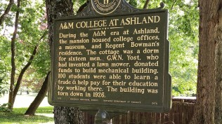 Ashland, A&M College sign