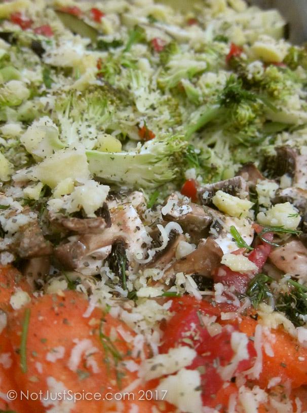 Roast Vegetable with Mushrooms on notjustspice.com