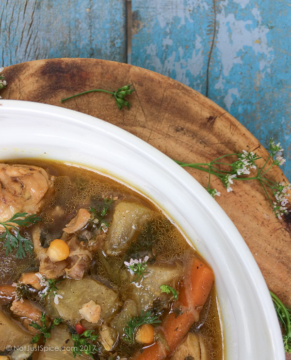Immunity Boosting Chicken Soup | Cold and Flu-Fighter Chicken Soup Indian Style on notjustspice.com