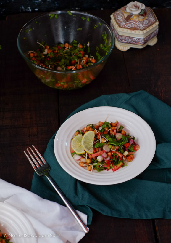 Black Chickpea Sprouts Indo-Mediterranean Salad-Black Chickpea Sprouts Indo-Mediterranean Salad-Black Chickpea Sprouts Indo-Mediterranean Salad on notjustspice.com