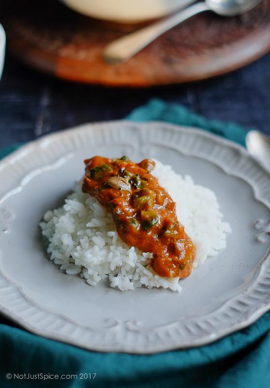 Kanchala Gojju | Haagalakaayi Gojju | Bitter Gourd Curry Recipe on notjustspice.com