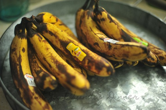 I found a bag full of bananas for 99¢.  I used some in banana bread and I will peel and freeze the rest for smoothies.
