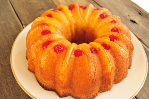 Pineapple Upside Down Pound Cake