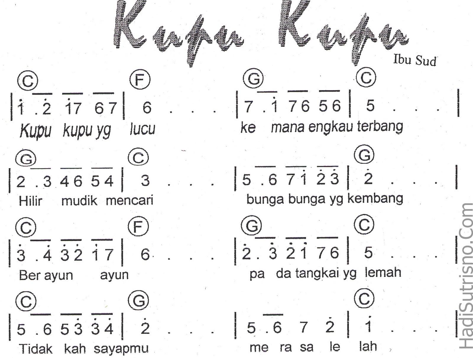 7 Koleksi Not angka Lagu anak-anak