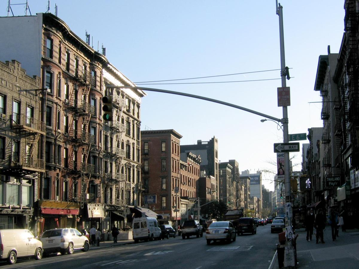 Image of a street in the East Village in Manhattan