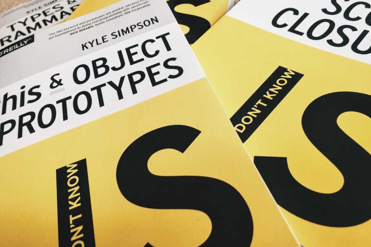 "Image of book covers for Kyle Simpson's ""You Don't Know JS"", the ""this and Object Prototype"" editions"