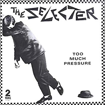 Image of black and white album cover from the Selecter for Too Much Pressure