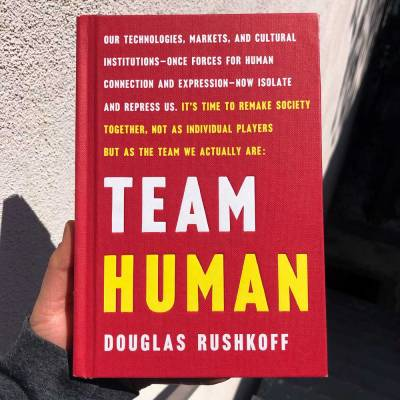 Cover of the book, Team Human with the text