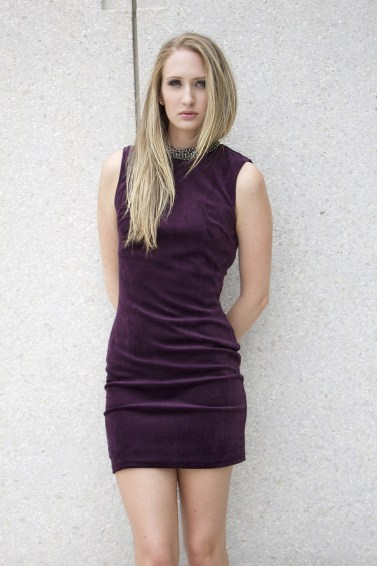 Purple-Velvet-mock-neck-dress