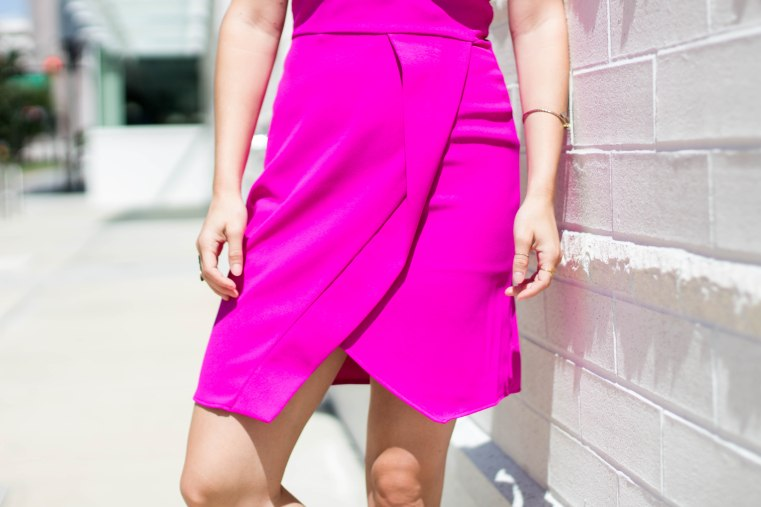 Not Necessarily Blonde_Hot Pink Dress-154