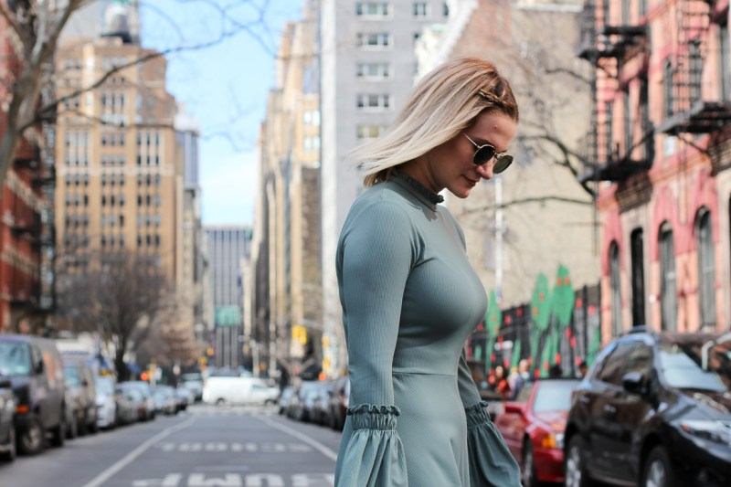Topshop-Bellsleeve-Teal-Dress-Not-Necessarily-Blonde