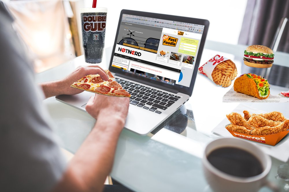 Fast Food and Laptop