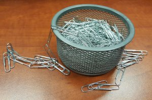 Yep, a picture of paperclips.