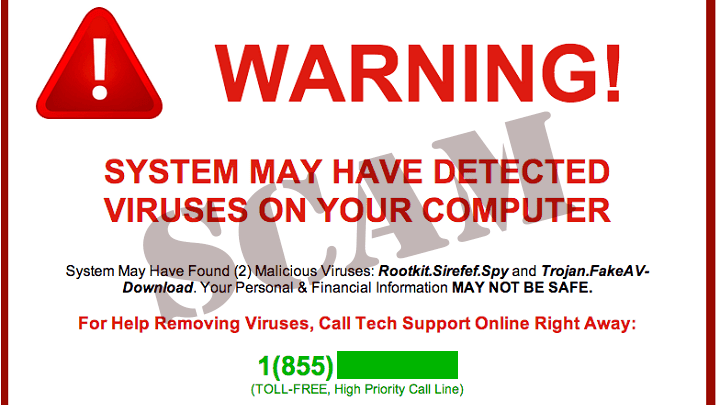PSA: Tech Support Scam Warning